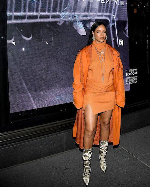 83212295 1407949542737059 3964515016386419903 n Rihanna, look arancione per Fenty