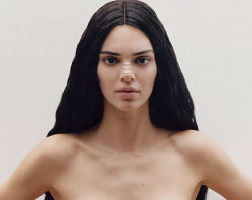 Kendall Garage cover Kendall Jenner in topless su Garage Magazine