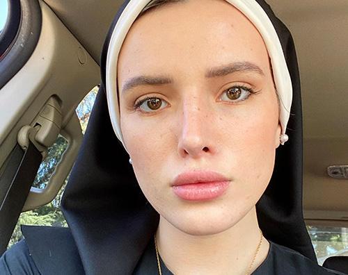 bella thorne 1 Bella Thorne è una suora su Instagram