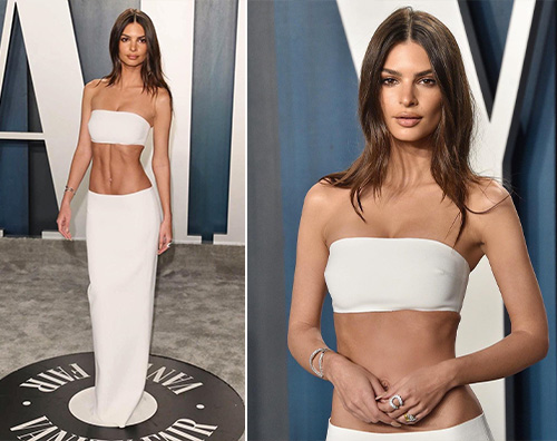 emily rata Emily Ratajkowski esagerata al Vanity Fair After Party