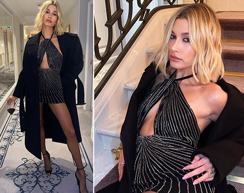 hailey baldwin Hailey Baldwin sexy per Saint Laurent