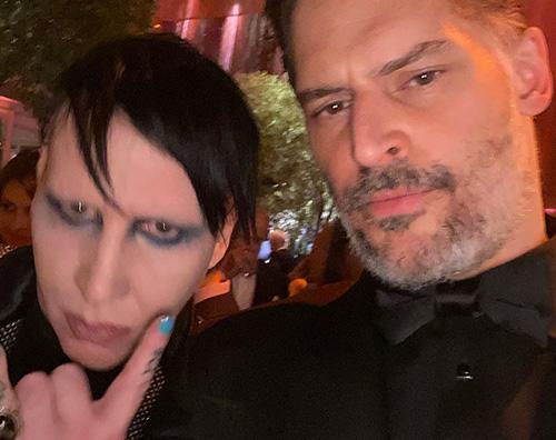 Joe Manganiello e Marilyn Manson al VF After Party