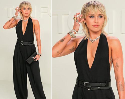 miley cyrus Miley Cyurs stilosa per la sfilata di Tom Ford