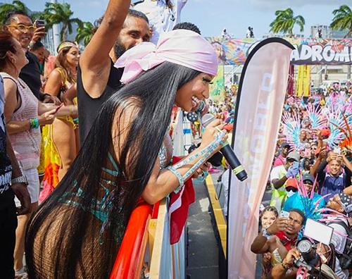 nicki minaj Nicki Minaj regina del Carnevale