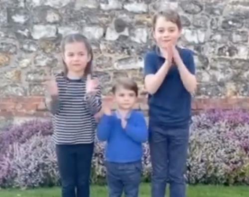 george charlotte louis William, Kate e i loro bambini ringraziano il personale sanitario con un video