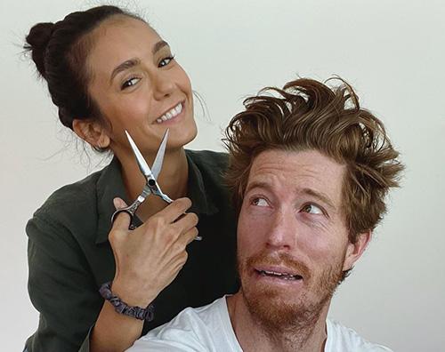ninna dobrev shaun Nina Dobrev parrucchiera per Shaun