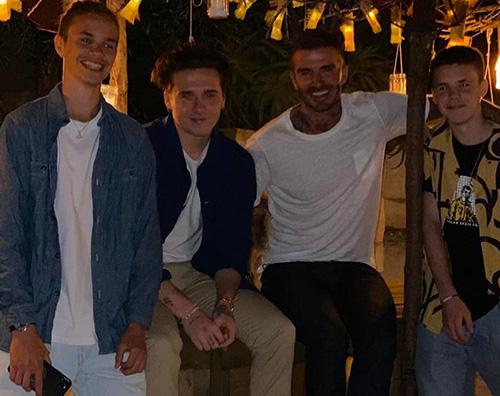 David Beckham finalmente insieme ai suoi figli