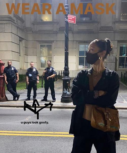 bella hadid 1 Bella Hadid contro i poliziotti perchè senza mascherina