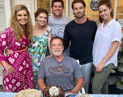 schwarzenegger Arnold Schwarzenegger, festa di compleanno in famiglia