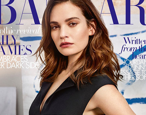 lily james Lily James star di Harpers Bazaar UK