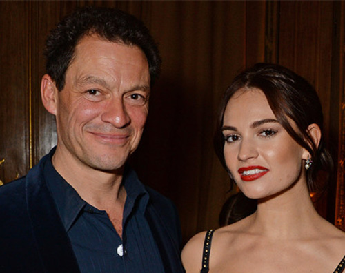 lily james Lily James e Dominic West paparazzati insieme a Roma