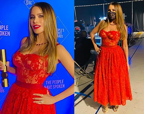 sofia vergara 1 Sofia Vergara in rosso ai Peoples Choice Awards