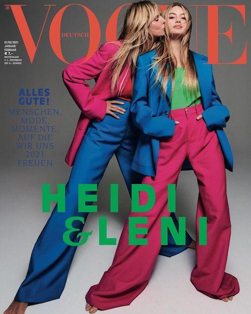 130197809 1109818346127721 3497361807233924357 n Heidi Klum sulla cover di Vogue Germany con Leni
