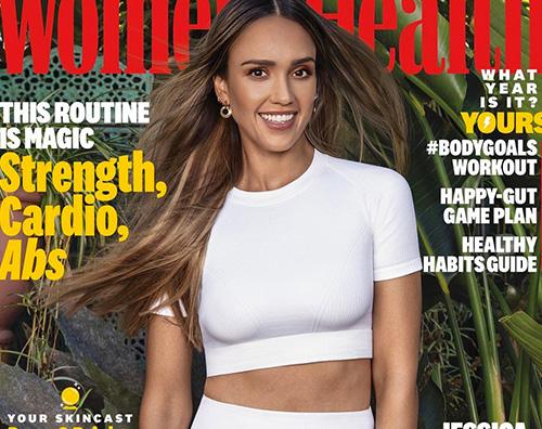 jessica alba 3 Jessica Alba in forma sulla cover di Womens Health