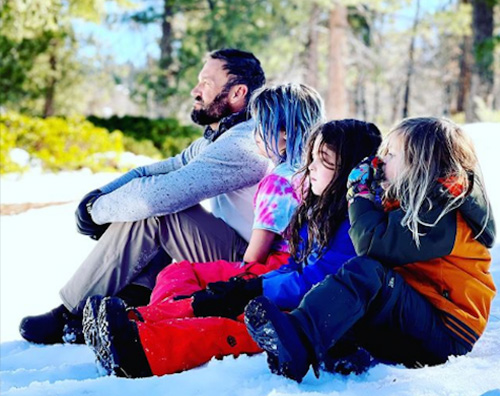 brian austin green Brian Austin Green con la neve coi figli