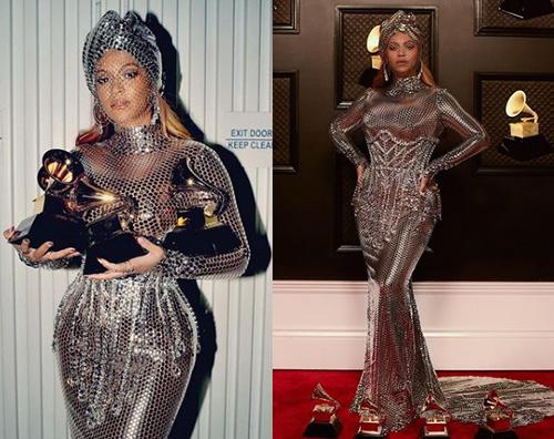 beyonce Beyonce scintillante allafter party dei Grammy