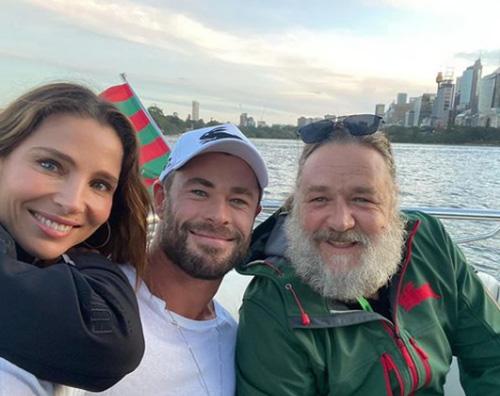 chris hemsworth Chris Hemsworth e Russel Crowe insieme su Instagram