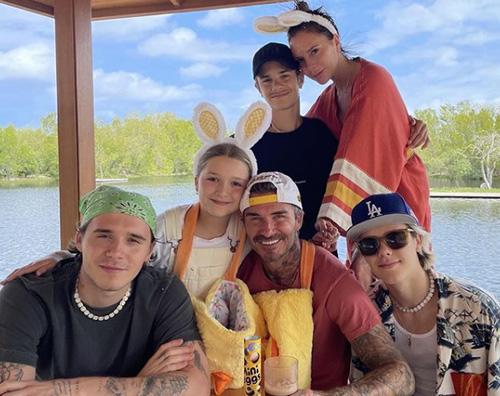 beckham Pasqua in famiglia per i Beckham