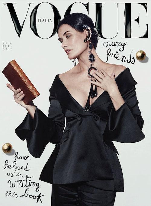 coverApr1 Demi Moore sulla cover di Vogue Italia