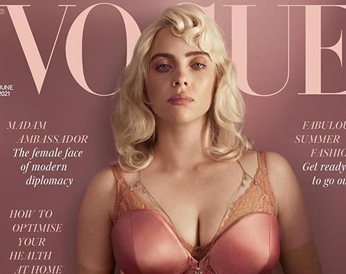 billie eilish cover Billie Eilish è una pinup su British Vogue