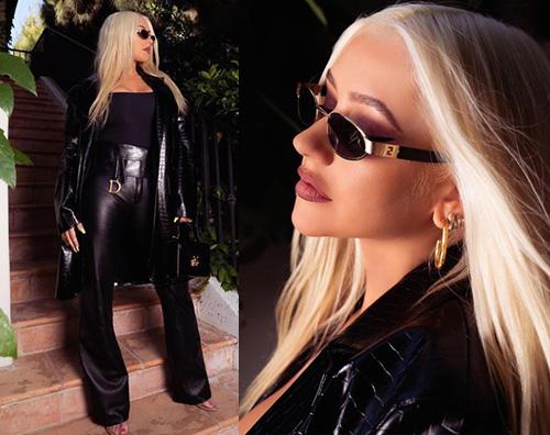 christina aguilera Christina Auguilera è una pantera su Instagram
