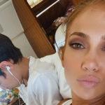 jlo 2 150x150 Jennifer Lopez, relax con i gemelli
