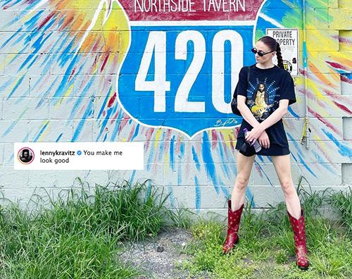 lenny sophie Sophie Turner è fan di Lenny Kravitz