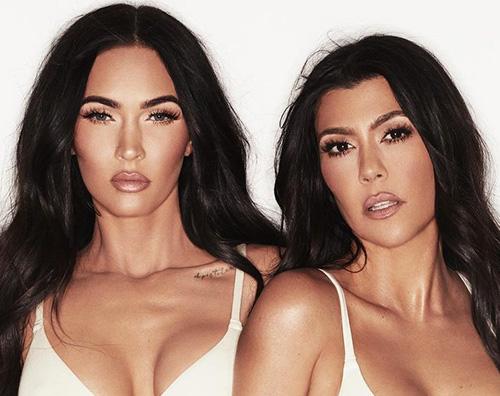megan kourtney cover Megan Fox e Kourtney Kardashian, shooting hot in lingerie