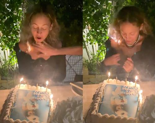 nicole richie 1 Nicole Richie, capelli a fuoco durante il soffio delle candeline