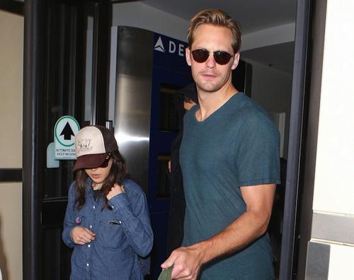 ellen alxender2 Cè del tenero tra Alexander Skarsgard e Ellen Page?